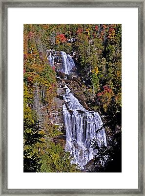 Framed Print featuring the photograph White Water Falls by John Gilbert