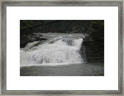 White Water Framed Print by Heather Green