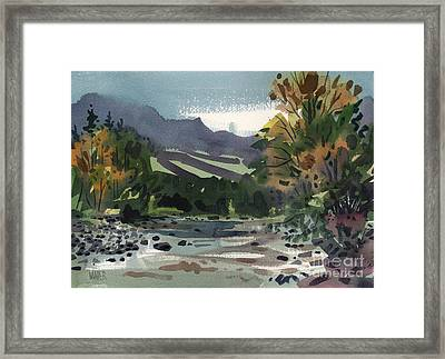 White Water On The White River Framed Print by Donald Maier