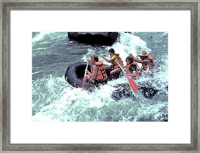 White Water Rafting Framed Print by Carl Purcell