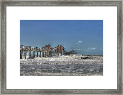 White Water Framed Print