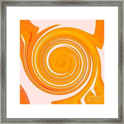 White Waves Swirling - Fire Element Framed Print by Helena Tiainen