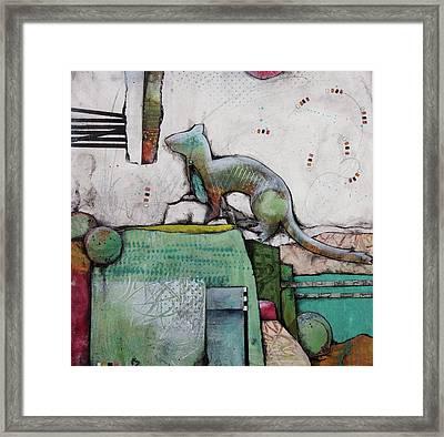 White Weasel  Framed Print
