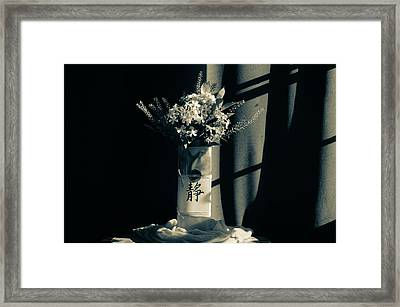 White Wildflowers In June Framed Print by Wendy Blomseth