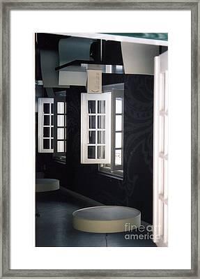 White Windows Framed Print by Andrea Simon