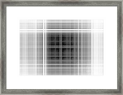 White Windows Framed Print