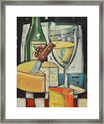 White Wine And Cheese Framed Print by Tim Nyberg