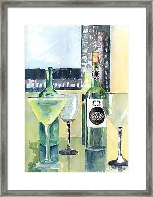 White Wine Framed Print by Arline Wagner