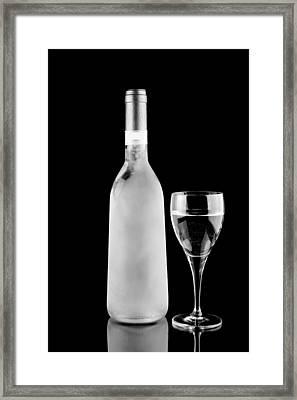 White Wine Frozen Framed Print by Tommytechno Sweden