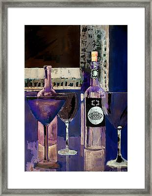 White Wine Inverted Framed Print by Arline Wagner