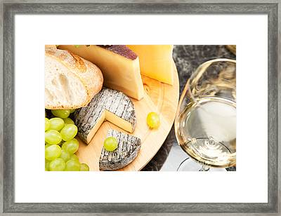 White Wine With Cheese Framed Print by Wolfgang Steiner