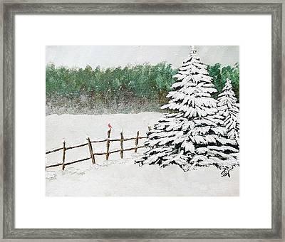 White Winter Framed Print by Sheri Doyon
