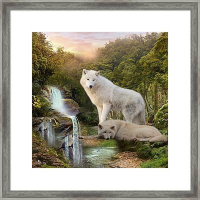 White Wolf Falls2 Framed Print