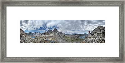 Whitebark Pass Between Nydiver And Garnet Lake - Sierra Framed Print
