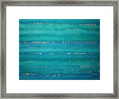 Whitecaps Original Painting Framed Print by Sol Luckman