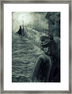 Whitechapel By Gaslight Framed Print by Philip Harvey
