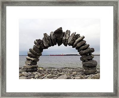 Whitefish Bay Under The Arch Framed Print