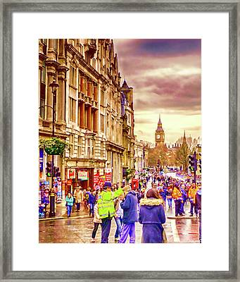 Whitehall New Year Framed Print by Sharon Lisa Clarke