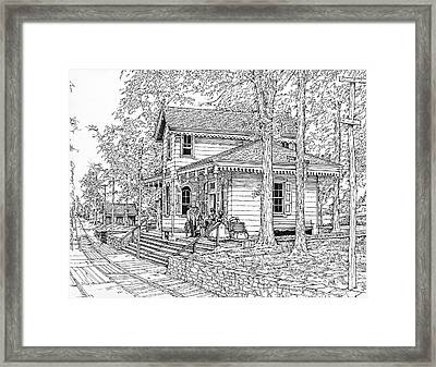 Whitehall Station Bryn Mawr Pennsylvania Framed Print