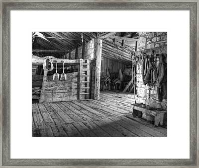 Whitehorse Ranch 3 Framed Print by Ron Schwager