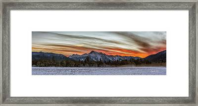 Whitehorse Sunset Panorama Framed Print