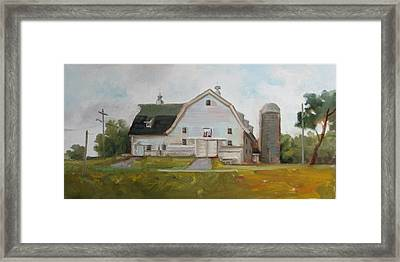 Whitehouse Dairy Barn Framed Print by Nora Sallows