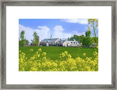 Whitemarsh Pa - Erdenheim Farms In The Spring Framed Print by Bill Cannon