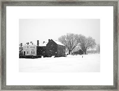 Whiteout At Strawbery Banke Framed Print