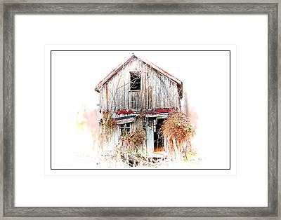 Whiteout In Opequon Framed Print
