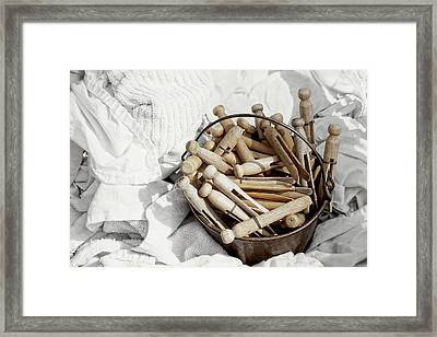 Whites Framed Print by Angie Rea
