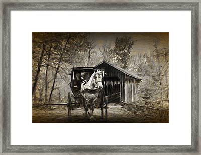 Whites Bridge With Painterly Effect Framed Print by Randall Nyhof