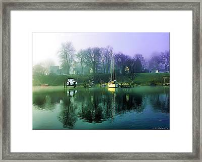 Framed Print featuring the photograph White's Cove Awakening by Brian Wallace