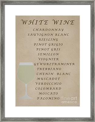 Whites Framed Print