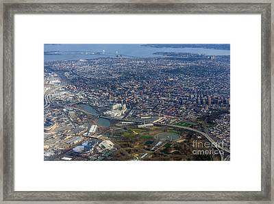 Whitestone Queens Aerial Photo In New York City Framed Print
