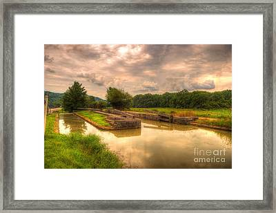 Whitewater Canal Lock 24 Framed Print by Paul Lindner