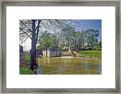 Whitewater Canal Metamora Indiana Framed Print by Gary Wonning