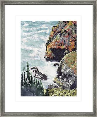Whitewater Coast Framed Print