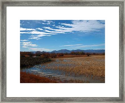 Framed Print featuring the photograph Whitewater Draw by James Peterson