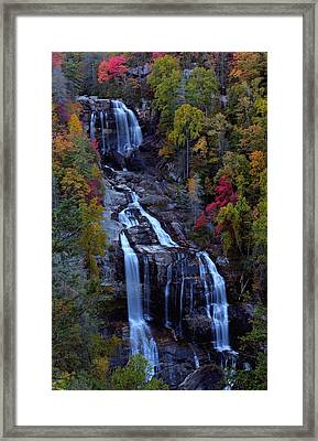 Whitewater Falls In Autumn Framed Print