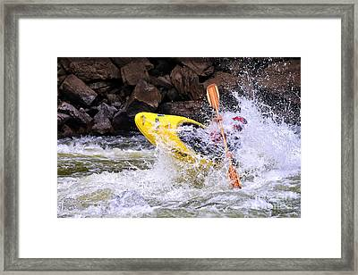 Whitewater On The New River Framed Print