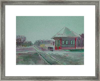 Whitewater Rail Station Framed Print