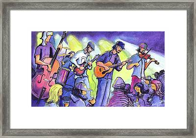 Framed Print featuring the painting Whitewater Ramble At The Barkley Ballroom by David Sockrider