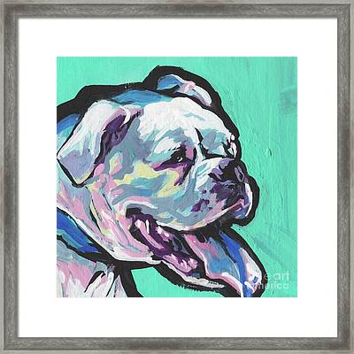Whitey Boxer Boy Framed Print