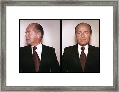 Whitey Bulger Prime Mugshot Framed Print by Daniel Hagerman
