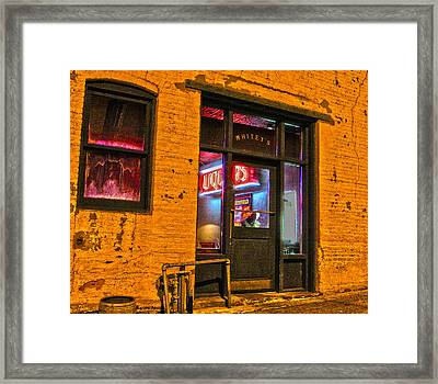 Whitey's Bar And Grill Framed Print