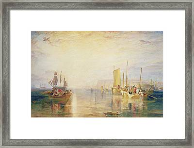 Whiting Fishing Off Margate Framed Print by Joseph Mallord William Turner