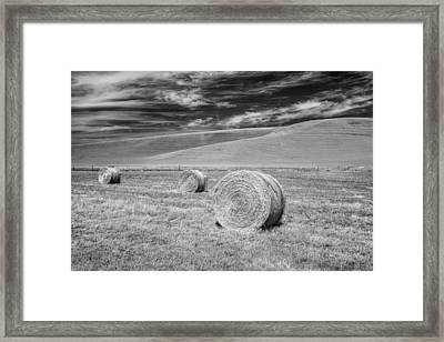 Whitmann County Work Framed Print by Jon Glaser