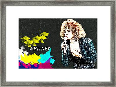 Whitney Houston Framed Print by Manjot Singh Sachdeva