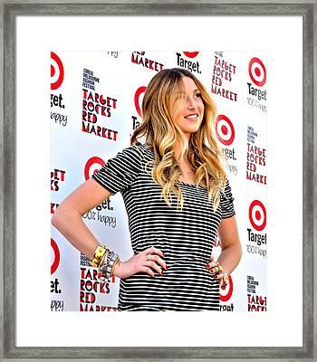 Whitney Port Framed Print