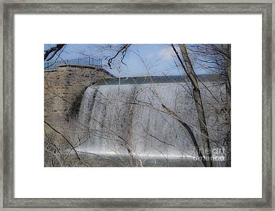 Eli Whitney's Dam  Framed Print